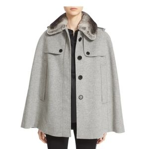 Burberry Wolseley Wool and Cashmere Trench Cape S